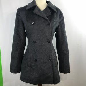 J Crew Double Breasted Peacoat Wool Blend
